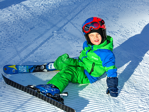 children's ski snowboard lessons in megeve