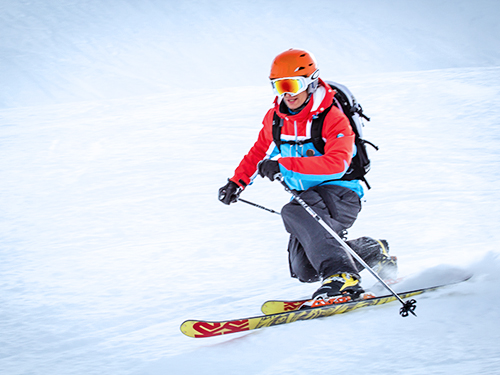 private telemark lessons in megeve